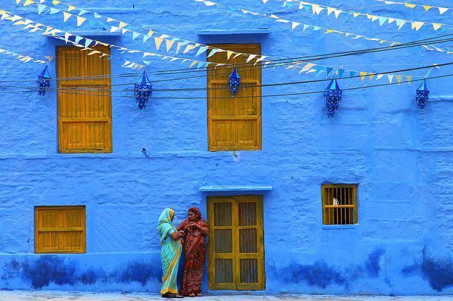 その名もブルーシティー街全体が青く染まるインド西部の街ジョードプル