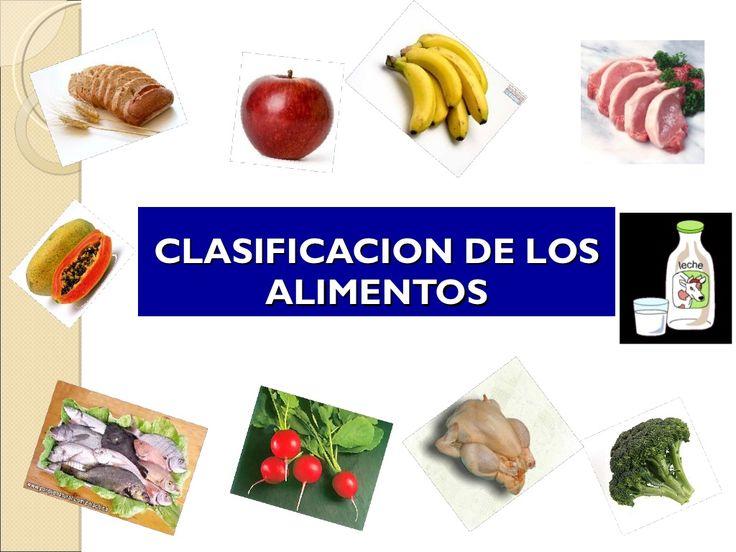Clasificacion de los alimentos by KGEORGE via slideshare