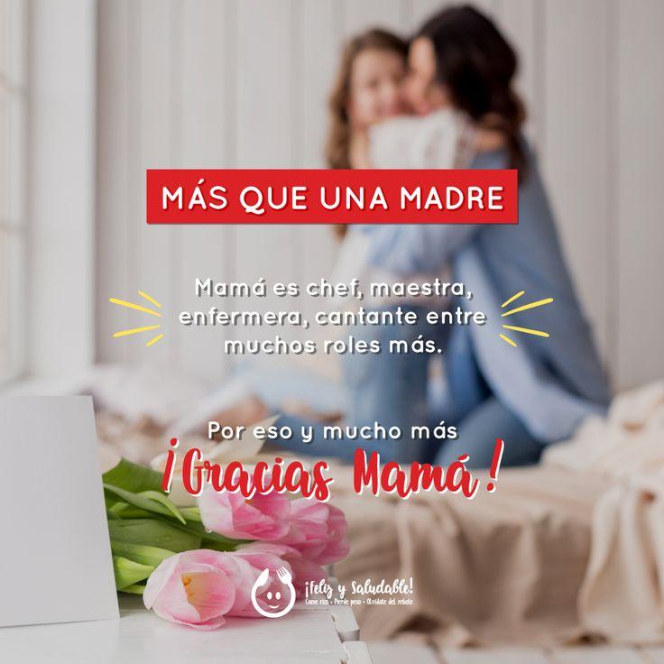 ¡Feliz día mamá, gracias por tus cuidados y amor! ❤️