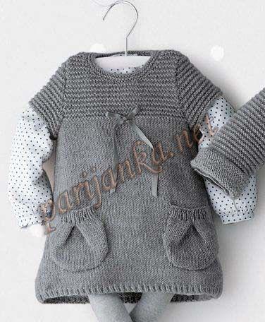 вязаные платья для новорожденных описание
