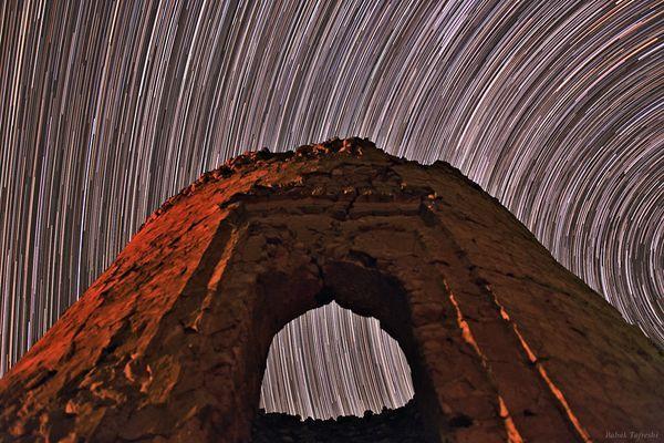 star trails Alborz mountain