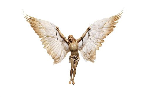 Nancy Fouts. Jesus with Wings (White)