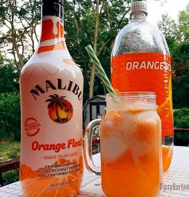 Orange float 2 Oz Malibu orange float 2 Oz orange soda 2 scoops ...