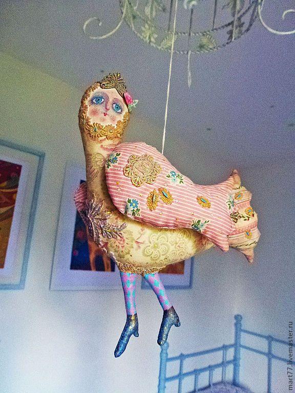"""Купить """" голубка волшебная.."""" - бледно-розовый, птица, Сирин, голубь, кукла"""