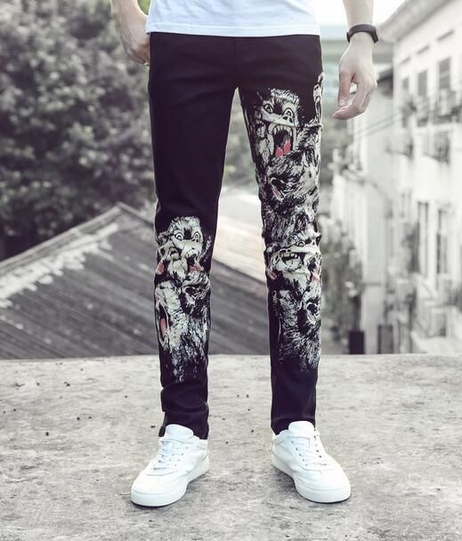 England black autumn straight printing feet pants man fashion true jeans men famous brand mens pants skinny jeans men trousers     Tag a friend who would love this!     FREE Shipping Worldwide     Get it here ---> http://onlineshopping.fashiongarments.biz/products/england-black-autumn-straight-printing-feet-pants-man-fashion-true-jeans-men-famous-brand-mens-pants-skinny-jeans-men-trousers/