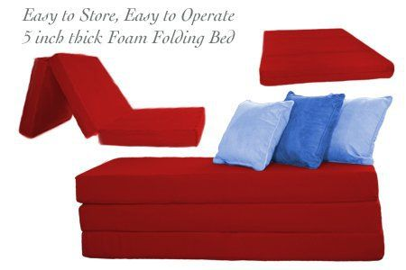 The original easy storage sleeping solution; Just flip 'em, fold 'em and store 'em! Tri-fold foam folding beds (or as we like to call them, shikibutons) are the perfect folding bed for guests, but can also serve as a quick conversion sofa / ottoman or even a camping mat. The foam... more details available at https://furniture.bestselleroutlets.com/living-room-furniture/futons/futon-mattresses/product-review-for-the-futon-shop-5-inch-sleeper-chair-folding-foam-b