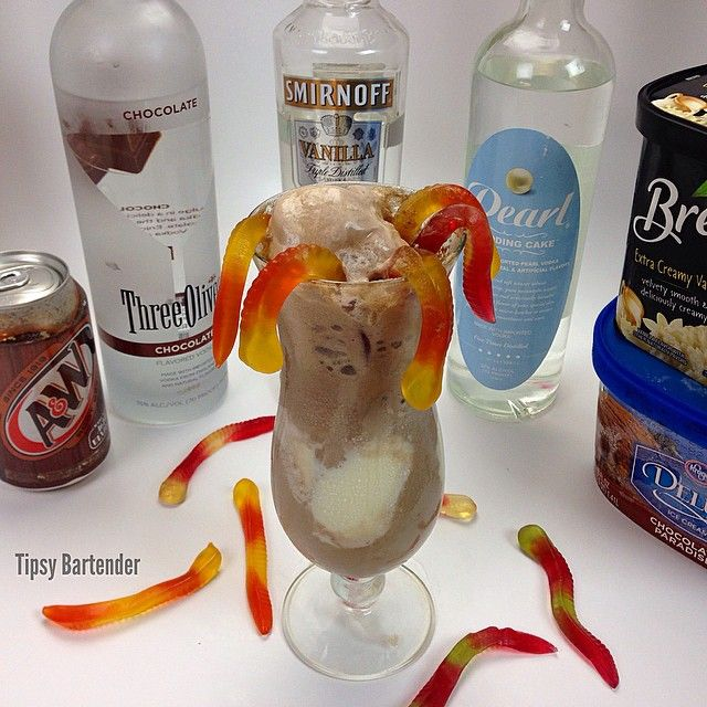 Evil root beer float for the recipe visit us here www for Ice cream with alcohol