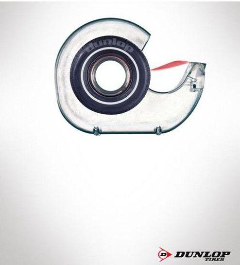 L'adhérence est primordial pour un  #pneu et ça #Dunlop l'a bien compris et le prouve avec cette publicité très originale !