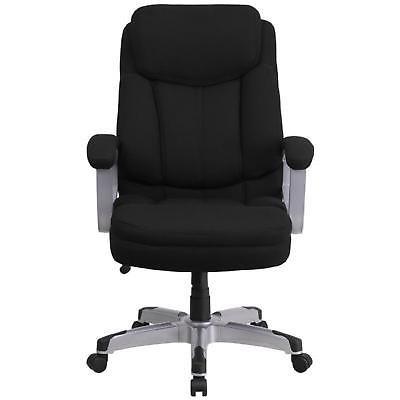 Executive Swivel Office Chair Fabric High Back Computer 500lb Capacity Black Big