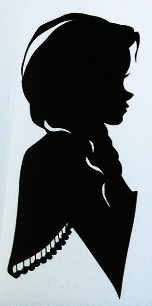 Anna silhouette portrait Decal 9 X 4.5 by DayDreamDesigns33, $10.00