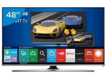 "Smart TV LED 48"" Samsung Full HD Gamer J5500 - Conversor Digital Wi-Fi 3 HDMI 2 USB"