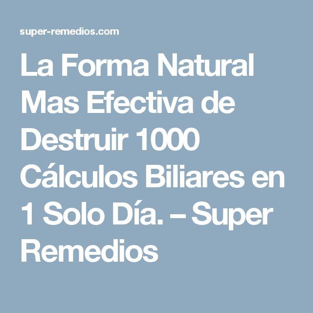 La Forma Natural Mas Efectiva de Destruir 1000 Cálculos Biliares en 1 Solo Día. – Super Remedios