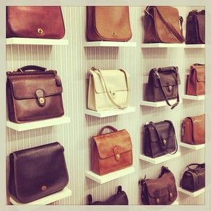 An assortment of Coach Classics on display in the Coach Archive #ThrowbackThursday #tbt