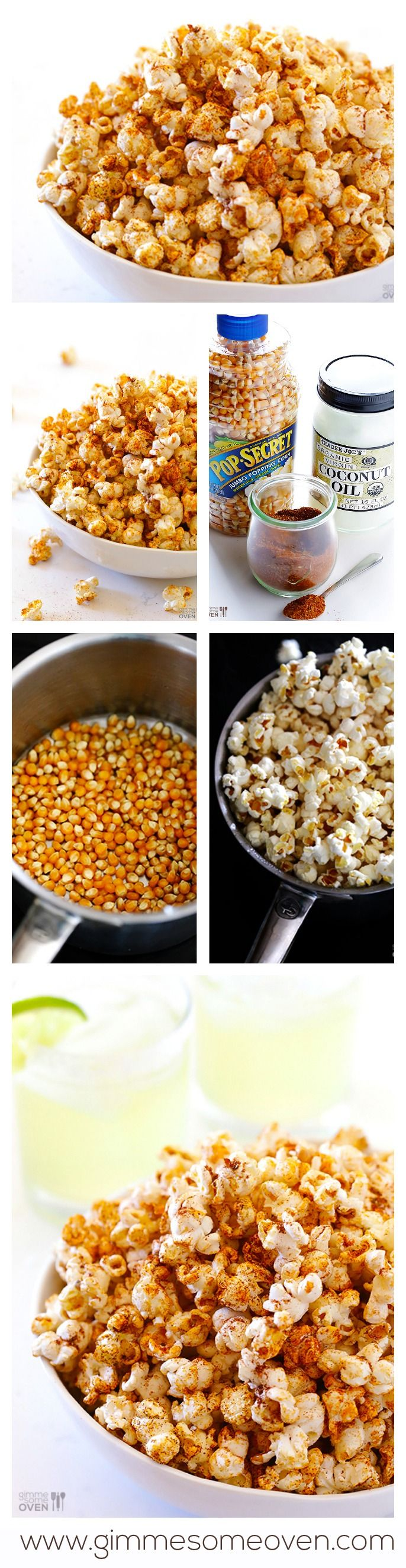 Taco Popcorn -- healthy, easy, and FULL of great taco flavor! gimmesomeoven.com #popcorn