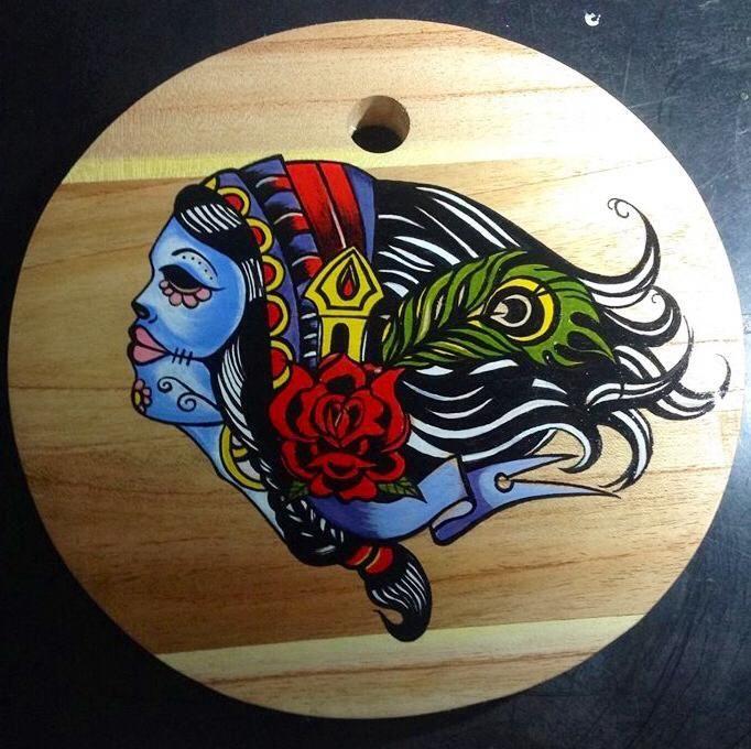 Drawing on the board old skull new skull by Prettyfish ink ! yogyakarta Indonesia