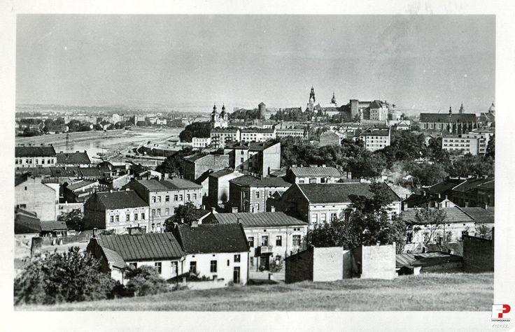 Dzielnica XIII Podgórze (Josefstadt), Kraków - 1956 rok, stare zdjęcia