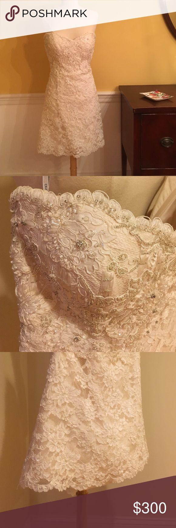 Martina Liana Wedding Dress Australian designer dress with stunning beadwork, Sweetheart neck line - Dress is lined in 100% silk martina liana Dresses Wedding