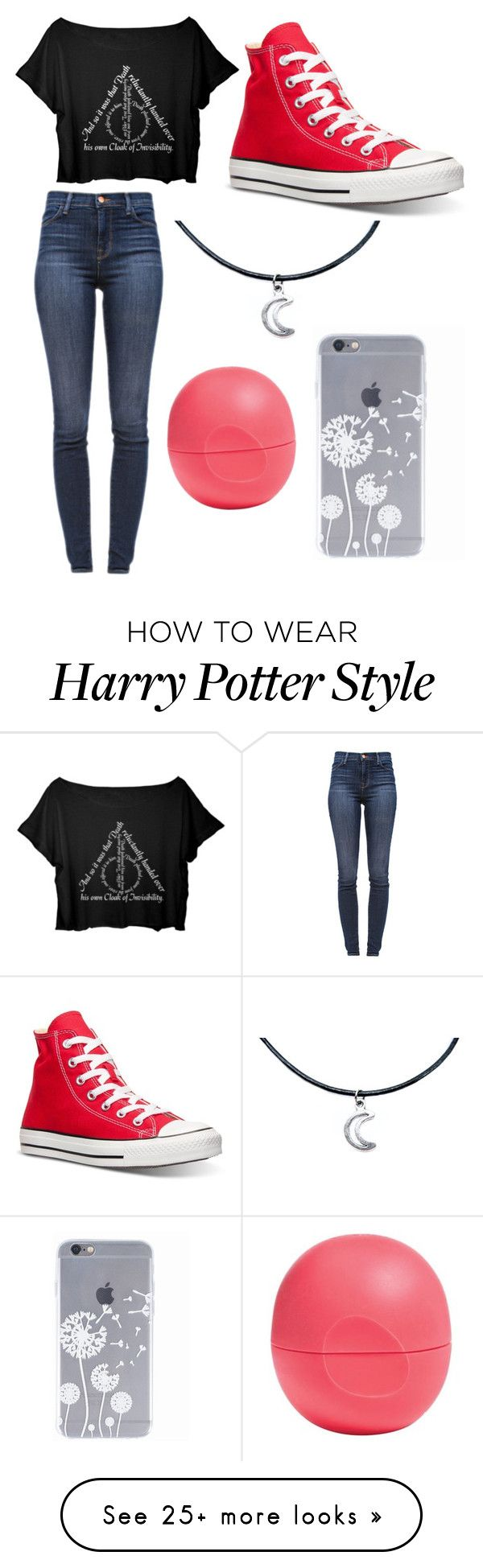 """""""what"""" by avidchatterbox on Polyvore featuring Converse, J Brand and Eos"""