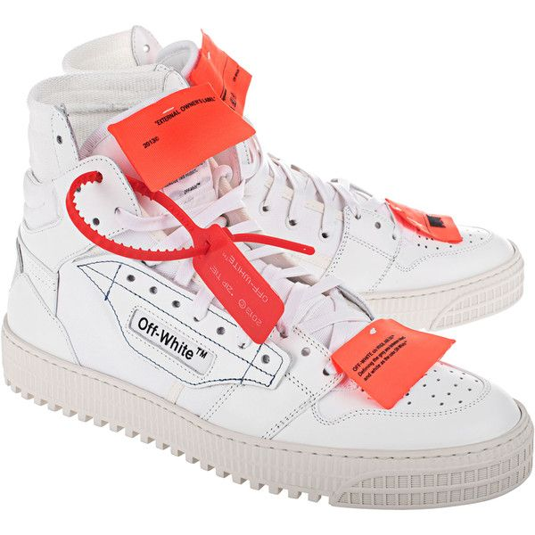 OFF-WHITE C/O VIRGIL ABLOH Low 3.0 White // High-top sneakers ($610) ❤ liked on Polyvore featuring shoes, sneakers, mens cap toe shoes, men's low top sneakers, men's low top shoes, mens high top sneakers and mens white sneakers