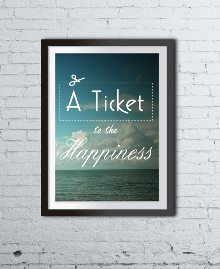 TICKET TO HAPPINESS poster by Colleco #interior #design #poster #art