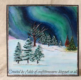 Crafti Treasures: Northern Lights card tutorial with Sheena Douglass Scenic…