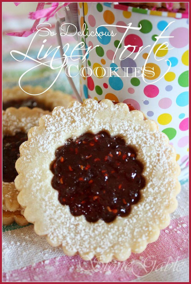 Scrumptious Linzer Torte Cookies... stonegableblog.com