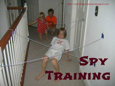 Indoor Activity for Kids: Spy Training