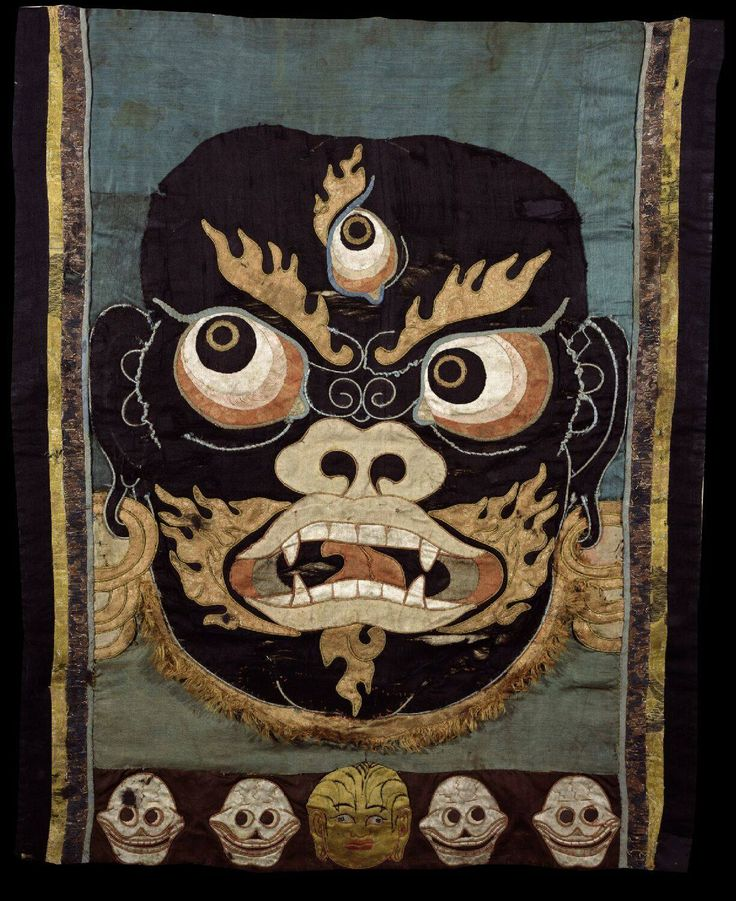 mahakala dance apron tibet 1600 1699 ethnic art craft pinterest tibet posts and aprons. Black Bedroom Furniture Sets. Home Design Ideas