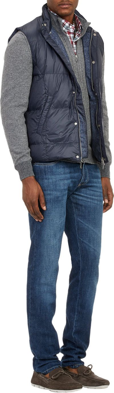 Fioroni Flannel-Lined Puffer Vest at Barneys.com