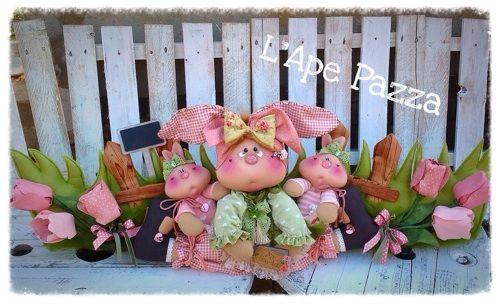 Cartamodelli primavera 2015 : Cartamodello paraspifferi con conigli