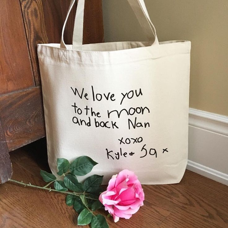 """Personalize My World Boutique on Instagram: """"How sweet is this? This beautiful hand lettered (by my 2 boys) tote was a Mother's Day gift for my mother in law...and what proud Grandma wouldn't love to receive this as a special gift??"""""""