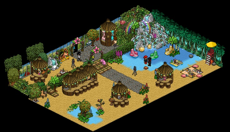 1000 images about cool habbo rooms on pinterest game of for Beach house design games