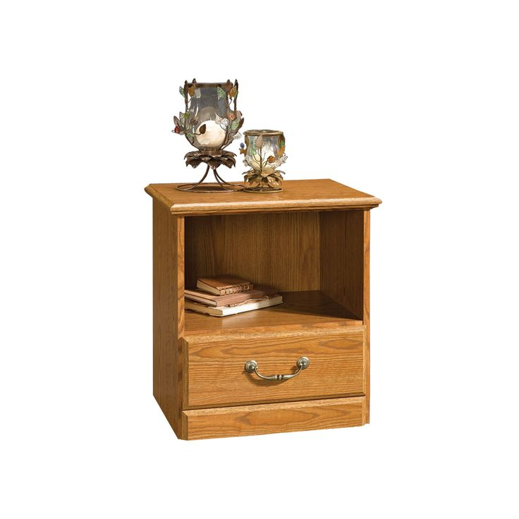 Sauder Nightstand - Oak, Brown