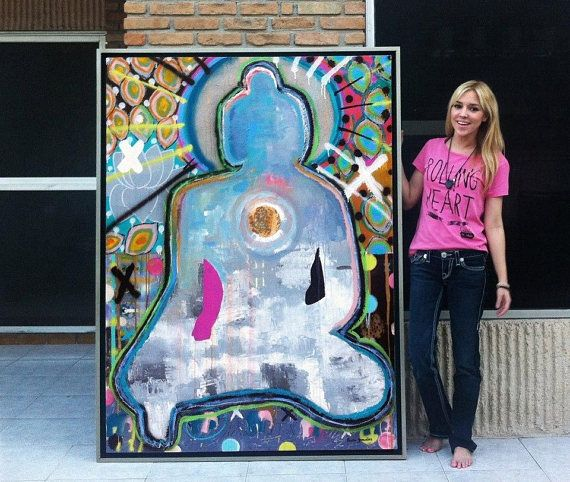 Welcome to Paola Gonzalez Art / Personalized Healing Zen Art In this option you are choosing a (61 in X 73 in) personalized artwork. You may choose it horizontal or vertical. I will intuitivley make your own pice, perhaps you would need a beautiful buddha, I have many options that would suit