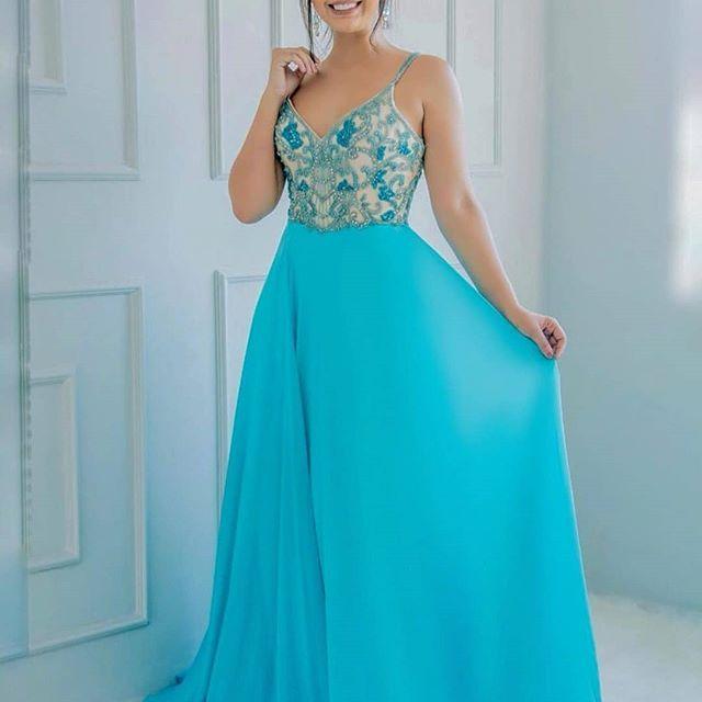 Vestido De Festa Plus Size Estampado Em 2020 Com Imagens