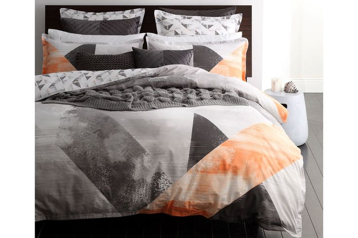 Neo Orange Duvet Cover Set by Logan and Mason