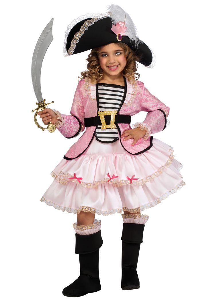 girls pirate princess costume hat dress boot tops and belt - Halloween Pirate Costume Ideas