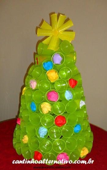 Cantinho Alternativo: Passo a Passo de Árvore de Natal Com Copos Descartáveis