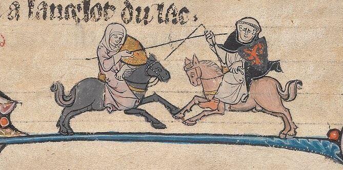 A Monty Pythonesque Duel - Nun v. Monk (@BeineckeLibrary, MS 229, 13th c.)
