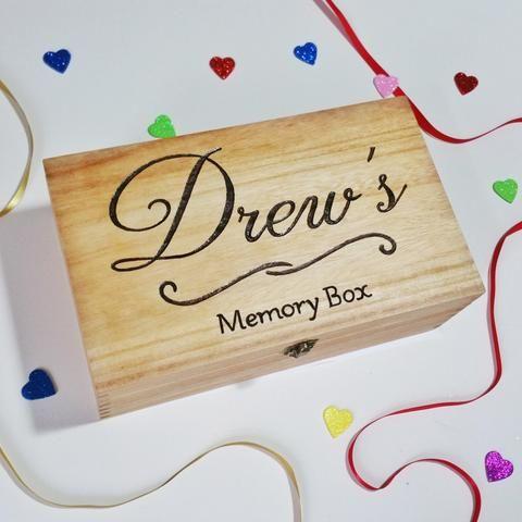 Engraved Personalised Memory Box – Make Memento