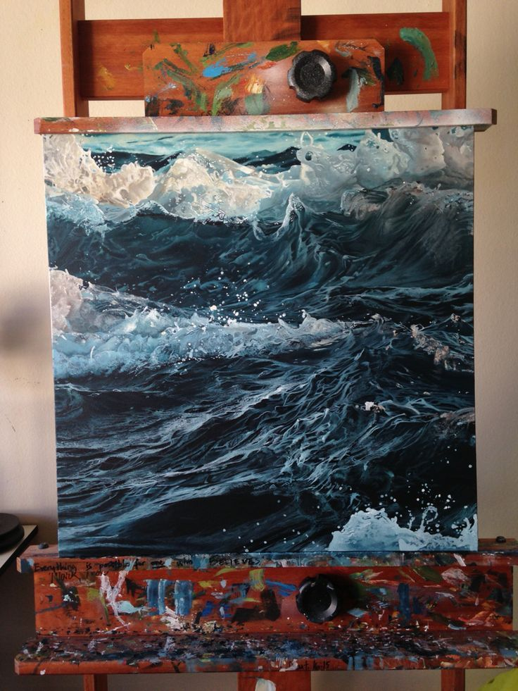 throw me in the deep end watch me drown credits to the owner painting sea