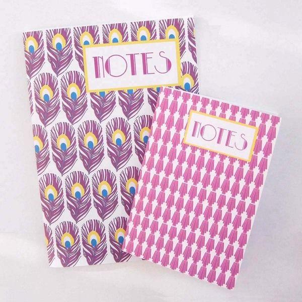 Notebooks Lot A 5 and A 6 art deco with calendar van Miska créations op DaWanda.com