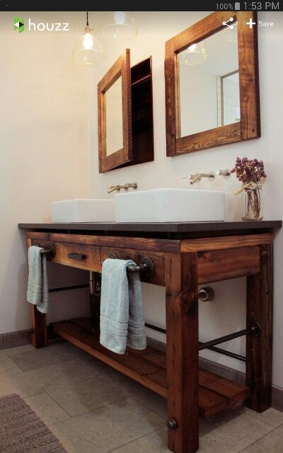 Galvanized pipe vanity For the Home