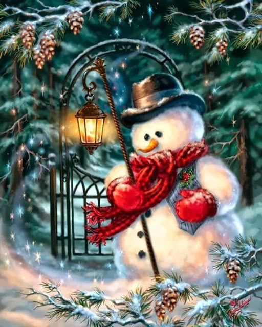 Зимнюю открытку, днем