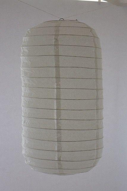 Lanterna di carta di riso da appendere Tubolare, colore Bianca. Diametro 30 cm, altezza 48 cm con gancio.