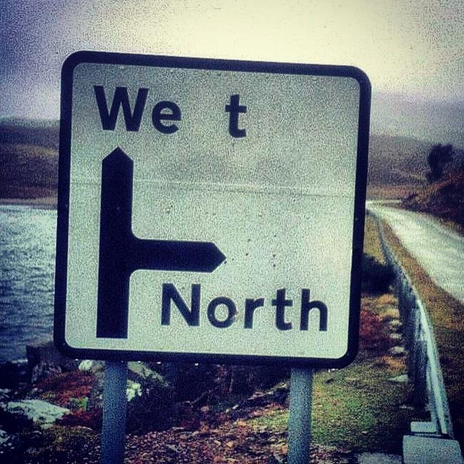 Wet and North  Often true!