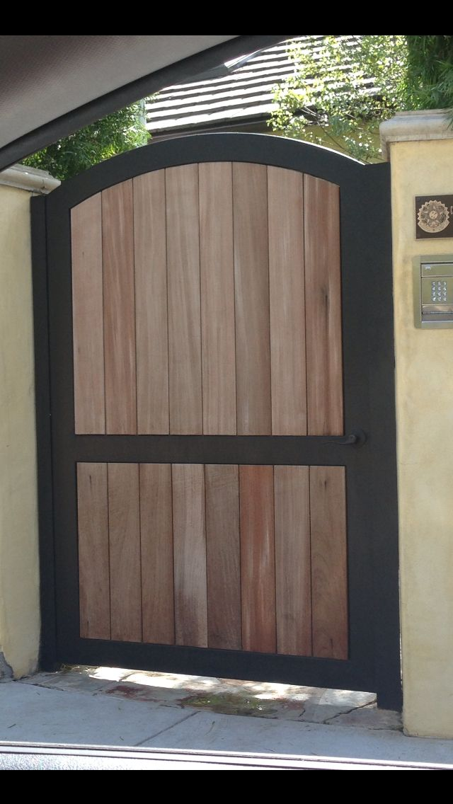Iron and wood gate & 461 best Wood Garage Doors and Gates images on Pinterest | Doors ... Pezcame.Com
