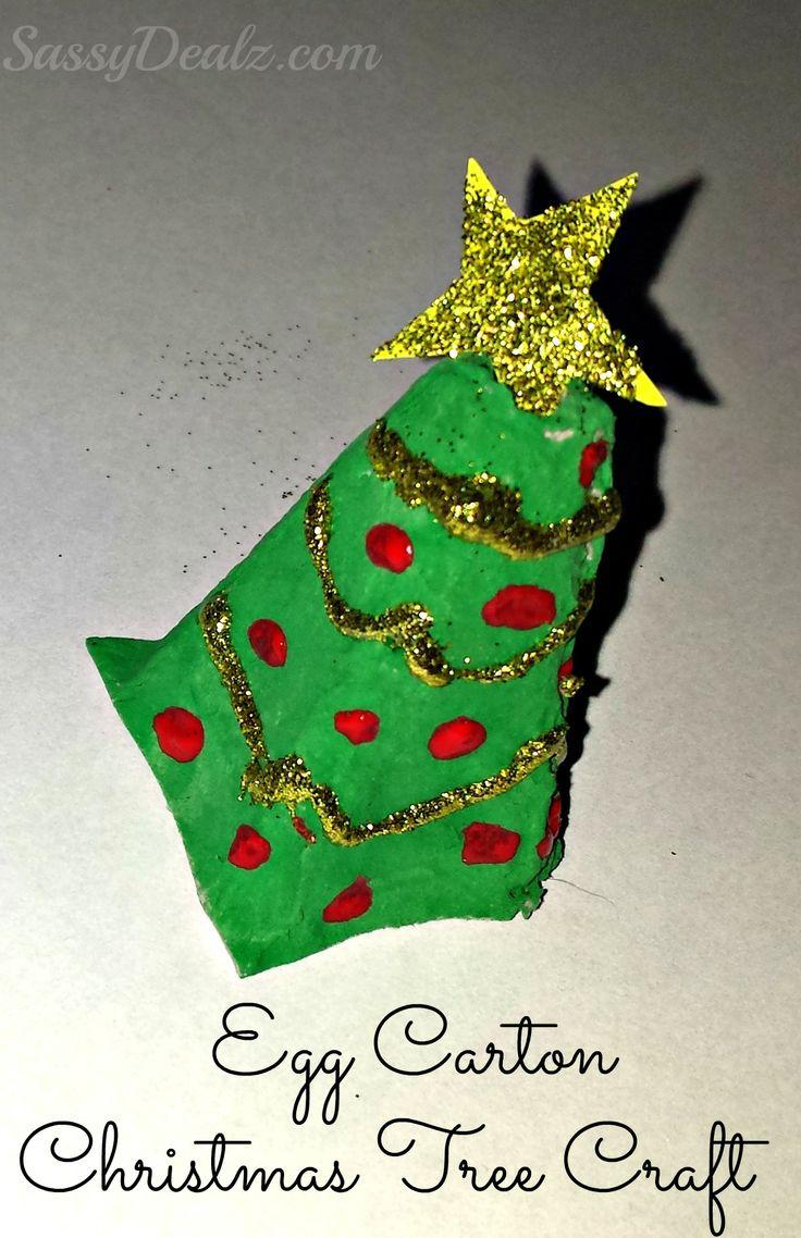 Recycled egg carton christmas tree craft for kids trees - Sassydeals com ...