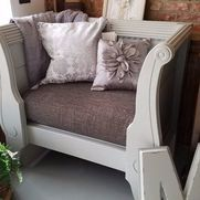 Fall Frankenstein-inspired DIY Project! - Accent And Storage Benches #dixiebellepaint #bestpaintonplanetearth #chalklife #homedecor #doityourself #diy #chalkmineralpaint #chalkpainted #easypeasypaint #makingoldnew #whybuynew #justpainting