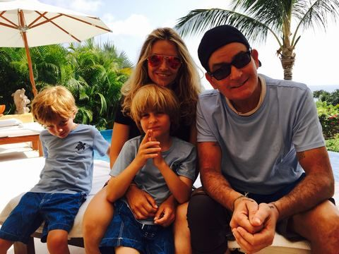 Charlie Sheen spent Father's Day in Mexico with his family.